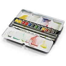 Winsor & Newton Caja metálica esmaltada Resistente 12 Medio Godets