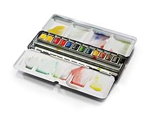 Windsor & Newton artist watercolor half pan 12 color set black box set (japan import)