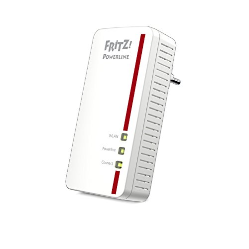AVM FRITZ Powerline 1260E Single-Adapter (WLAN-Access Point, ideal für Media-Streaming oder NAS-Anbindungen, deutschsprachige Version, 1.200 MBit/s)