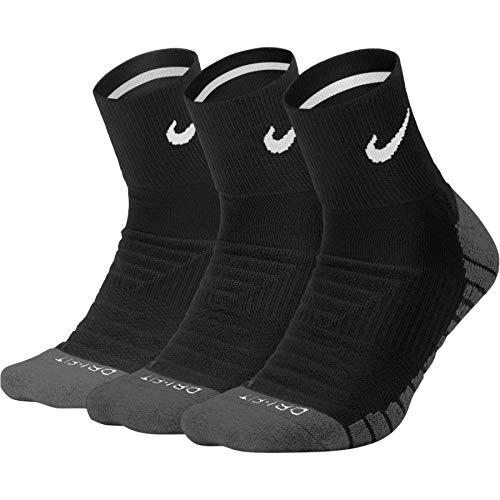 Nike - Dry Cushion Quarter 3 Paar Herren Trainingssocken- Gr. L (38-42 EU), schwarz - grau - weiß