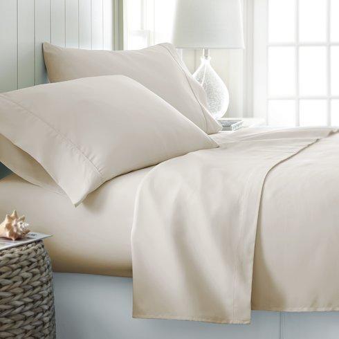 Threads Collection Premium 600Fadenzahl Ultra Soft 600tc flammig Bed Sheet Set Passt bis zu 38,1cm Tief Tasche 100% ägyptische Baumwolle Queen Size {Weiß Massiv} Queen Elfenbeinfarben -