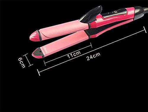 combo-volume-schiene-elektrische-locken-gerade-haarglattung-haareisen-dual-gerade-clip-rose-red
