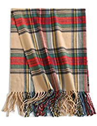 Large Luxury Plaid Tartan Pattern Scarf Shawl
