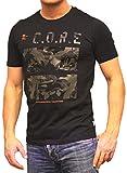 JACK & JONES Herren T- Shirt O-Neck Print Kurzarmshirt Top Shirt Sleeve Basic (L, Model2)