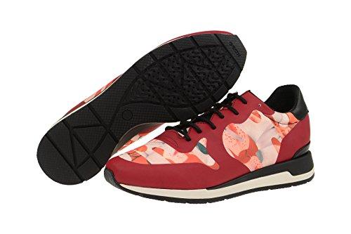 Geox  D64n1b 000l1c7004, Chaussures à lacets et coupe classique femme Rouge