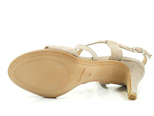 Tamaris 1-28028-38 Damen Sandalen Sandaletten Beige