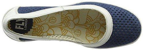 Fly London Yobe842fly, Fermé Toe Heel Chaussures Femme Bleu (bleu / Écru)
