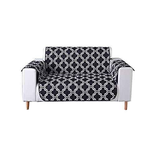 Baiansy wasserdichte Sofahusse, weich, für Wohnzimmer, Couchmöbel, Schutz für Kinder und Haustiere, Schwarz, Double seat