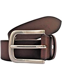 POLO INTL Men's Leather Belt (Brown, 36 inches)