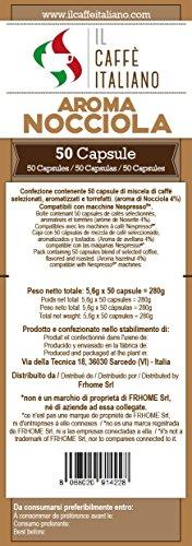 Il Caffè Italiano Café a Sabor de Avellana Compatible con Nespresso - 50 Cápsulas