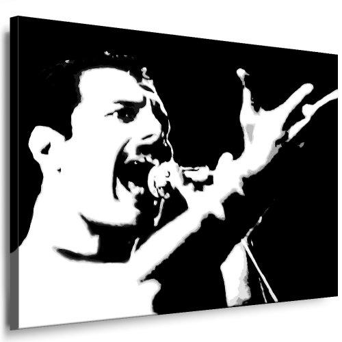 Bilder Kunstdrucke / Boikal / Leinwand Bild mit Keilrahmen Queen - Freddie Mercury 100x70 cm xxl.651