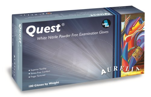 Aurelia Quest Nitrile Glove, Powder Free, 9.4