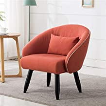 Lansen Furniture Modern Accent Arm Chair Leisure Club Seat with Solid Wood Legs (Orange)