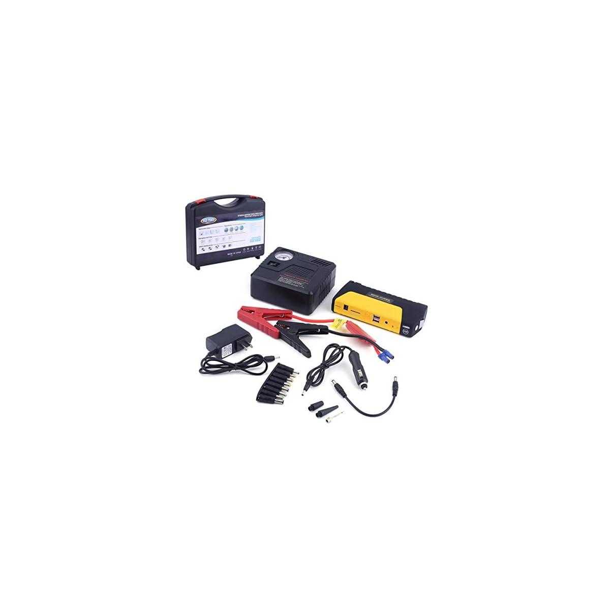 41Q2t9JXNQL. SS1200  - Salte la batería del arrancador, batería del banco de potencia del reforzador del cargador de emergencia del cargador del coche del motor del automóvil del coche del motor del coche de 68800MAHUSB.