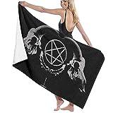 artyly Badetücher Extra große gotische okkulte Satan Penta Symbol Schädel Strand Reise Handtuch Pool Decke Quick Dry Swim Carpet Übergröße 80x130 cm