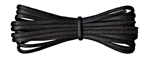 Fabmania 2 mm redondo negro encerado algodón cordones-75