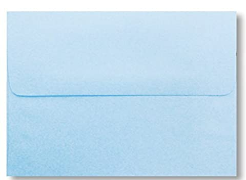 Free Shipping 50 Boxed Pastel Baby Blue A7 Envelopes for 5 X 7 Greeting Cards Invitation Birth Announcements Showers Weddings from The Envelope Gallery by The Envelope Gallery