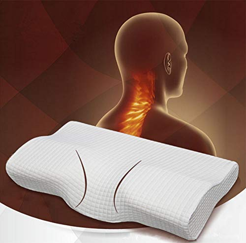 Cuscino, cuscino ortopedico bianco in lattice magnetico, 50 * 30 cm, cuscino cervicale ortopedico magnetico, cuscino memory (rilassamento lento, prevenzione del dolore al collo) - cuscino ortopedico +