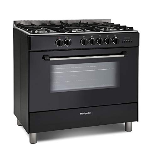 41Q2uInHesL. SS500  - Montpellier MR91DFMK 90cm Single Cavity Dual Fuel Range Cooker - Black