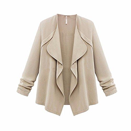 iHENGH Damen Kardigan Top,Ladies Herbst FrüHling Solide LangäRmellose Plus Fell Kardigan Mantel Outerwear Strickjacke Coat Tops