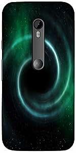 Snoogg Black Hole Universe Background Hard Back Case Cover Shield for Motorola G 3rd Generation (Moto G3)