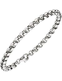 Unisex Erbsarmband 925 Sterling Silber 21 cm Armband Silberarmband Karabiner