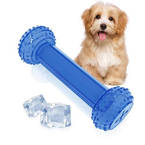 AUOKER Kühlendes Kauspielzeug für Hunde, Knochen zum Einfrieren kühlen und zahnen, für kleine und mittelgroße Haustiere, 6,3 x 6,3 cm - Hund Mittelgroße Hunde Knochen Für