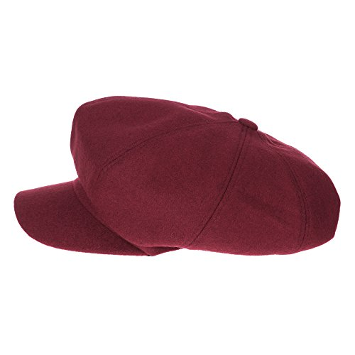 WITHMOONS Béret Casquette Chapeau Newsboy Hat Wool Felt Simple Gatsby Ivy Cap SL3458 Rouge