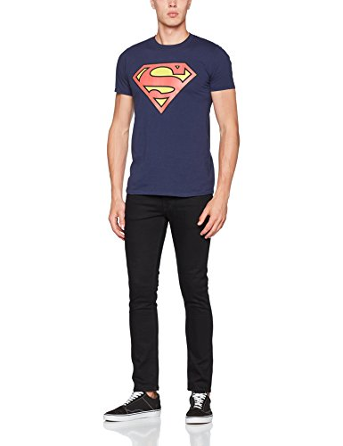 DC Universe Herren T-Shirt Originals Official Superman Shield Multicoloured (Navy)