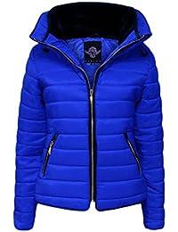 H F Girls-Frauen-Dame-Qualitäts Zara gesteppte Blase Puffer Padded Plain  Voll Langarm 33e6d3ce55