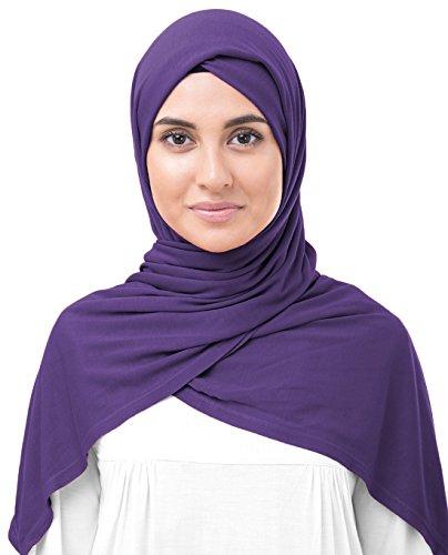 / Schal / Hidschab, aus Jersey-Stoff, für Damen Gr. Medium, Gentian Violet ()
