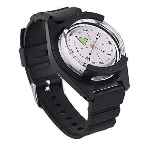 Sen-Sen Tactical Wrist Compasses Militär Outdoor Survival Strap Band Armband Kunststoff schwarz (Wie Man Survival Armbänder)