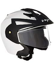 Vega Crux Open Face Helmet (White, M)