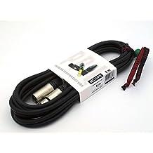 X-LEAD MC10PN050BK Serie PLATINUM - Cable de micrófono profesional de alta calidad, punto de referencia para aplicaciones profesionales en estudio y en vivo - XLR / XLR - cable balanceado - conectores originales NEUTRIK: NC3FXX / NC3MXX - (5 metros, negro) - X-LEAD SAFE CABLE SYSTEM: incluido, gratis - MADE IN ITALY - por INCO Audio Connecting Leads