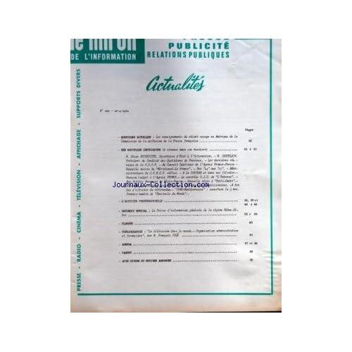 MIROIR DE L'INFORMATION DE LA PUBLICITE ET DES RELATIONS PUBLIQUES (LE) [No 229] du 04/05/1962