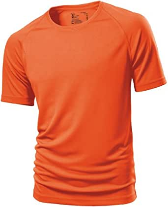 atmungsaktives Fitness-Shirt L,Orange