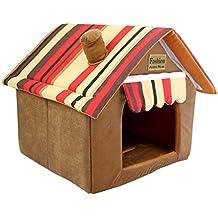 JEELINBORE Práctica Cama para Mascotas, Desmontable Plegable Casetas Casa para Gatos Perros (58 *