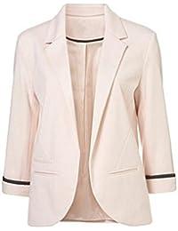 Elegant uomo Blazers Giacca d'affari 34 da Womens Slim Blᄄᄁzer Sleeve Fit xrhtsQdC