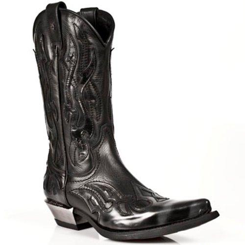 New Rock Boots Hommes Botte - Style 7921 S3 Noir Noir