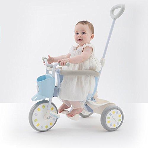 Baby stroller- Kinderwagen Dreirad kann entfernt werden, um den Kofferraum zu setzen (Farbe : Blue) - Jogger Mini City Double