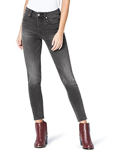 FIND AZW8041 skinny jeans damen, Schwarz (Dark Black), W34/L32 (Herstellergröße: X-Large)