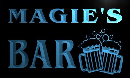 w052984-b MAGIE Name Home Bar Pub Beer Mugs Cheers Neon Light Sign Barlicht Neonlicht Lichtwerbung (Schiff Magie)