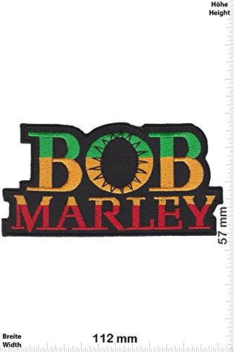 Patch - Bob Marley - color sun - Reggae - Musicpatch - Rock - Vest - Patches - Aufnäher Embleme Bügelbild Aufbügler Bob Patch