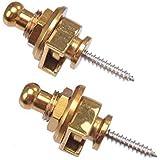 Acoustic/Electric Guitar Strap Lock Set, dorado
