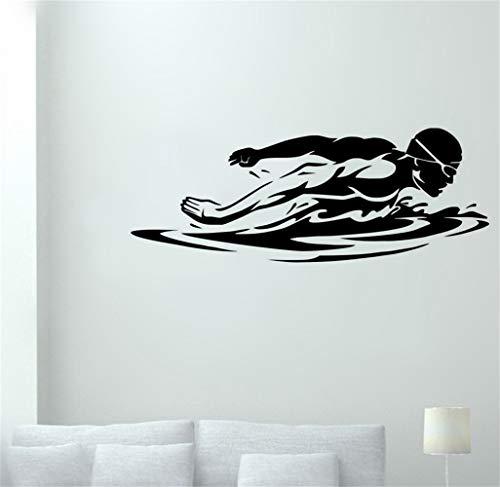 Wandaufkleber Kinderzimmer wandaufkleber 3d Schwimmen-Aufkleber-Schwimmen-Auto-Abziehbild-Plakate getragen, um Wand-Boots-Yacht-Dekor-Wandaufkleber für Wohnzimmer zu schwimmen