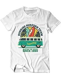 Hawaii Sunrise Surfers Summer - Fun - T-Shirt Herren