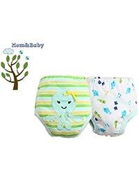 Mom&Baby Comfort Train ** Braga de aprendizaje reutilizables / Potty Training Pants ** niño + niña / de 2-3 años ( Pack de 2 unidades )