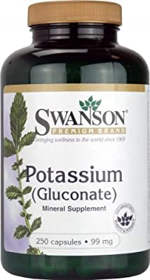 Swanson Potassium 99mg (250 Capsules) by Swanson Health Products