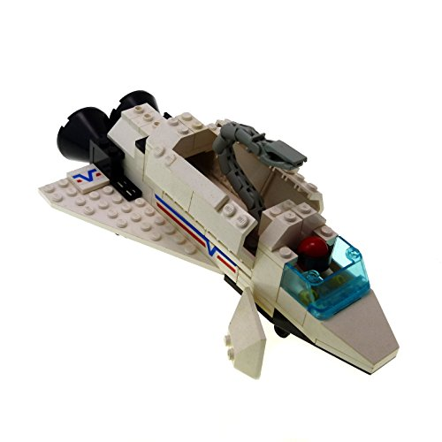 1 x Lego System Space Shuttle für Set Modell Classic Town Airport 6346 Shuttle Launching Crew weiss mit Figur 1992 incomplete unvollständig (Lego System Classic-sets)