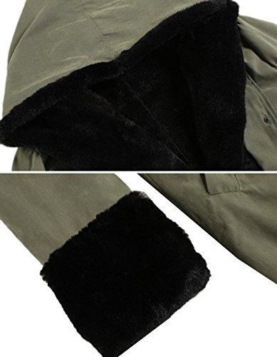 Wintermantel Damen SummerRio Damen Herbst Winter Warm Kapuzenjacke Lange Outerwear Mantel Oliv